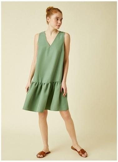 Koton Koton Elbise Yeşil